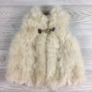 Zara BabyGirl Outerwear Faux Fur Vest